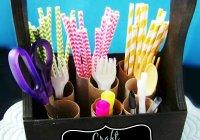 Toilet Paper Roll Craft Organizer at sewlicioushomedecor.com