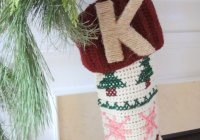 Twine Monogram Stocking