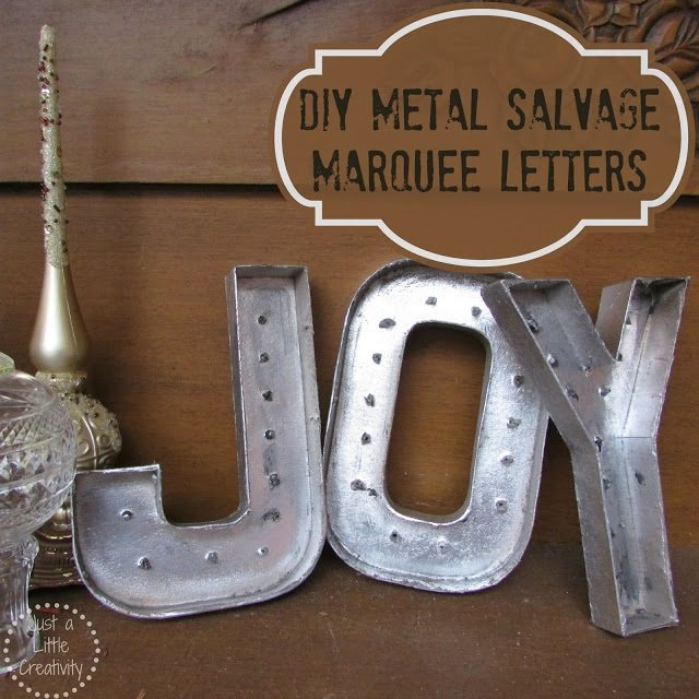 metal salvage paper mache letters