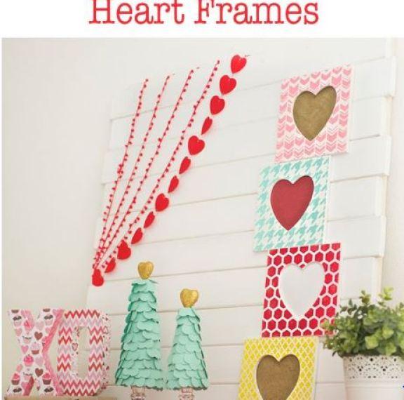 stenciled frames