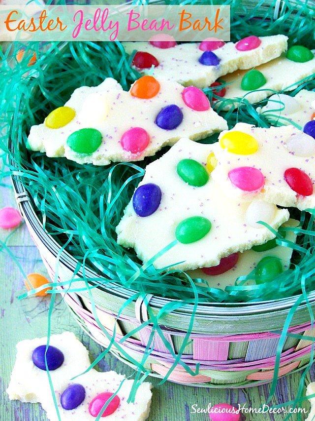 Easter Jelly Bean Bark Dessert sewlicioushomedecor.com