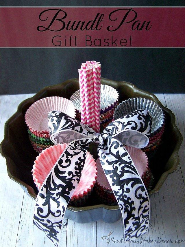 Bundt Pan Gift Basket at sewlicioushomedecor.com