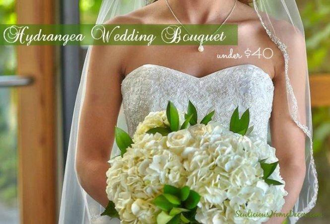 Beautiful Hydrangea DIY Wedding Bouquet for less than $40