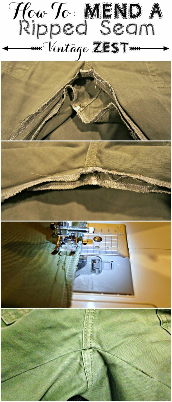 Repairing Ripped Seams 1