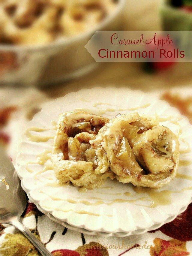 Sweet Caramel Apple Cinnamon Rolls at sewlicioushomedecor