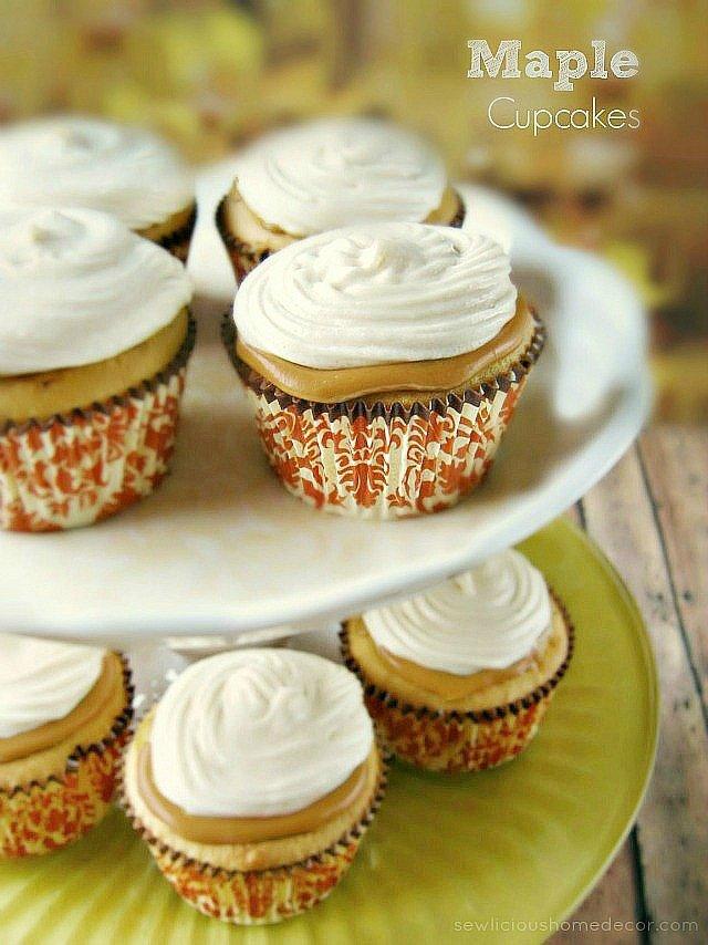 Delicious Maple Cupcakes by sewlicioushomedecor.com