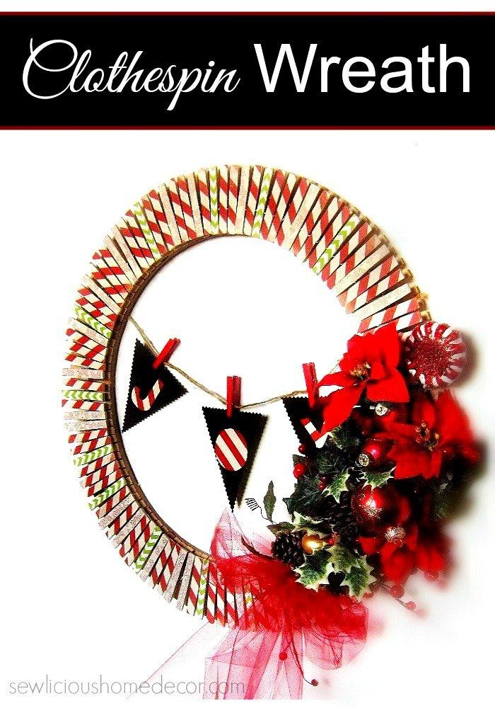 An Easy DIY-Clothespin-Holiday-Wreath-at-sewlicioushomedecor