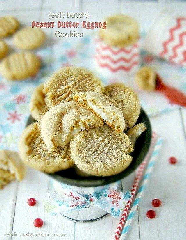 A Soft Batch Peanut Butter Eggnog Cookies sewlicioushomedecor.com