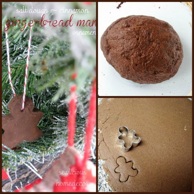 Cinnamon Salt Dough Gingerbread Man Ornament tutorial 2