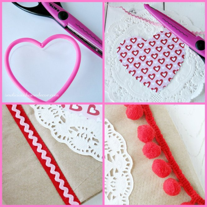 How to make heart valentine treat bags at sewlicioushomedecor.com