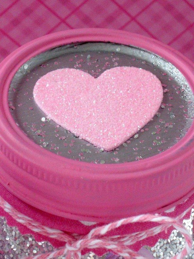 valentine heart mason jar lid