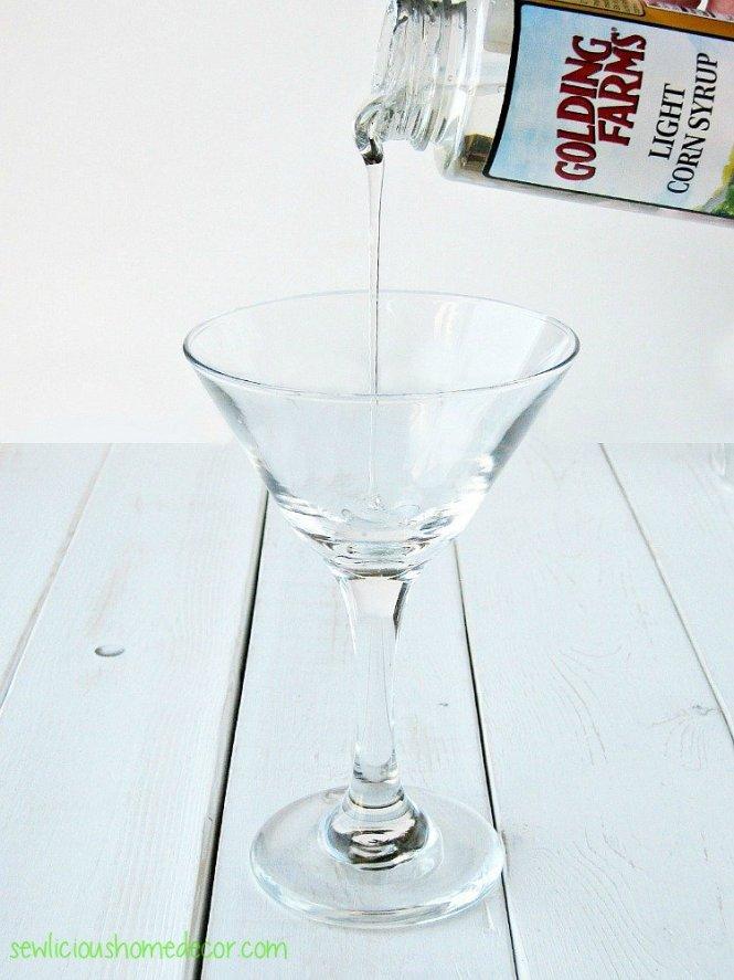Candy Coated Martini Glasses sewlicioushomedecor.com