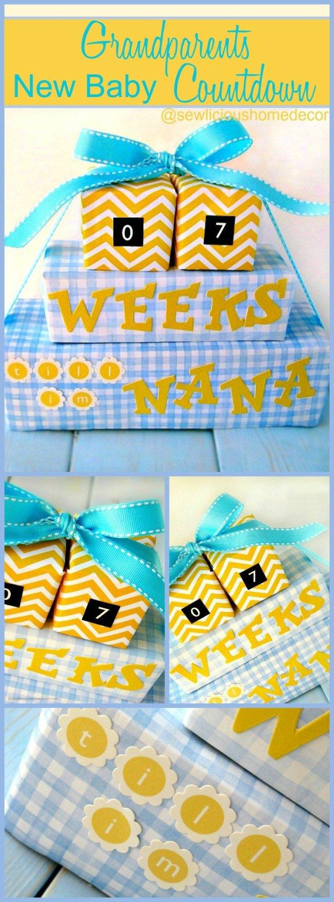 Grandparents New Baby Countdown sewlicioushomedecor.com