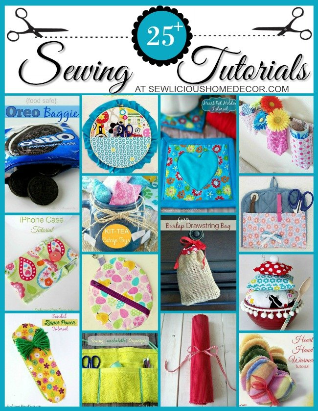 Over 25 Step-by-step picture sewing tutorials at sewlicioushomedecor.com