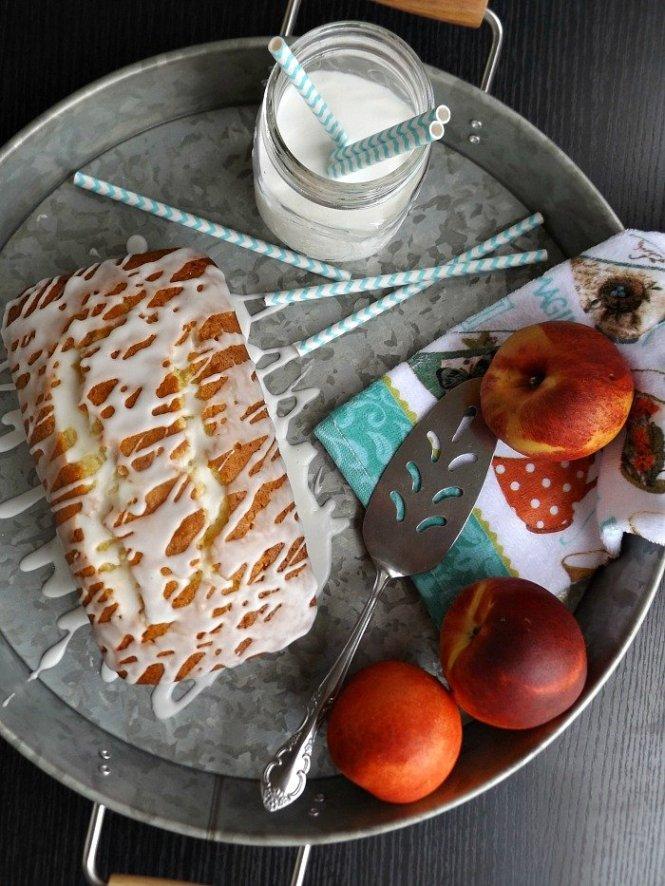 Healthy Greek Yogurt Peach Pound Cake sewlicioushomedecor.com
