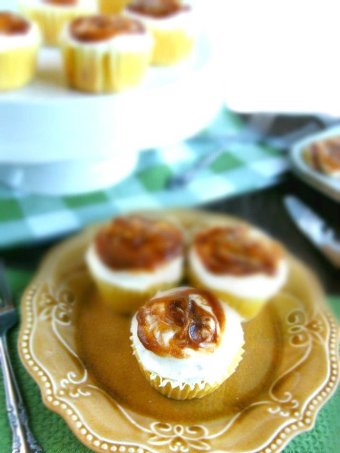 Homemade Apple Butter Buttermilk Cupcakes with a Cream Cheese Frosting sewlicioushomedecor.com