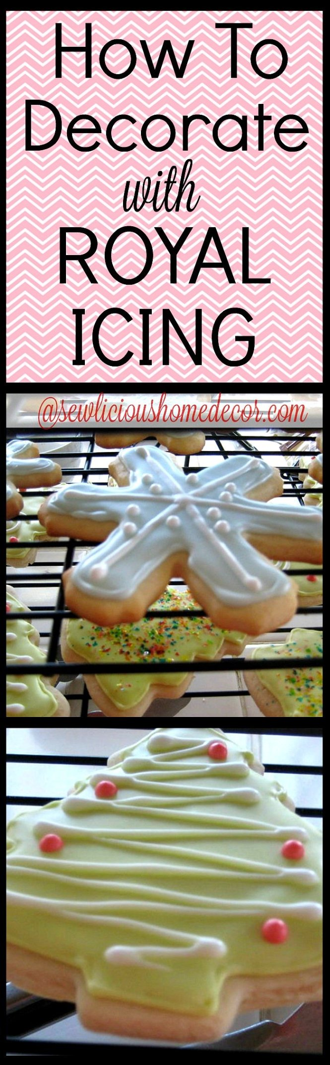 How To Decorate with Royal Icing Tutorial sewlicioushomedecor.com