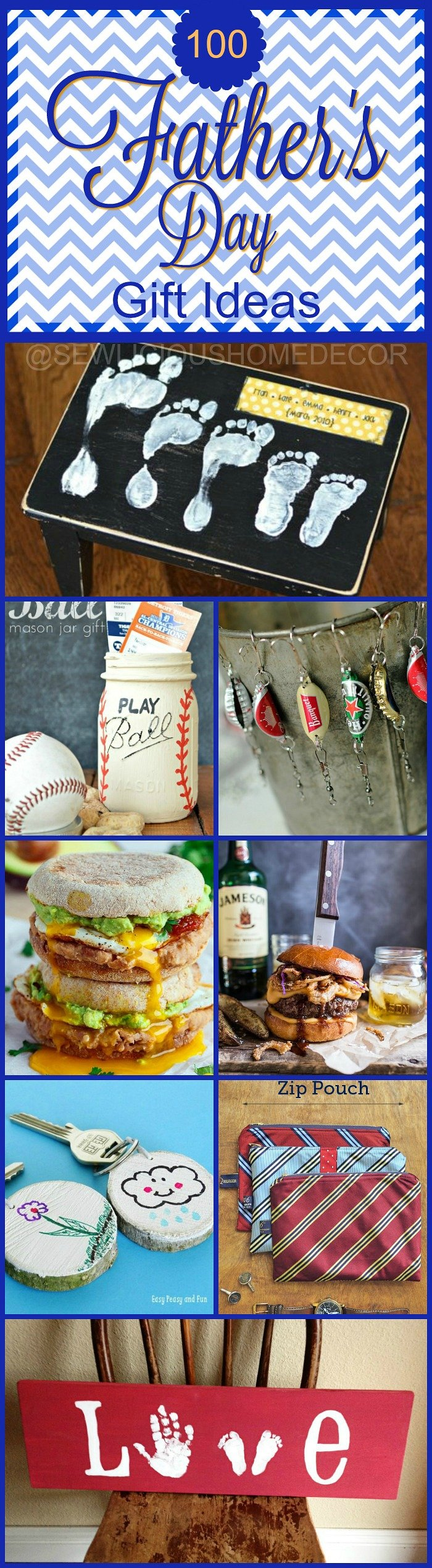 Over 100 Fathers Day Gift Ideas and Recipes at sewlicioushomedecor
