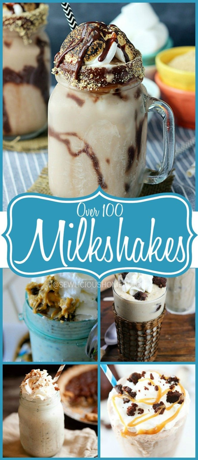 Over 100 Milkshake Recipes at sewlicioushomedecor.com