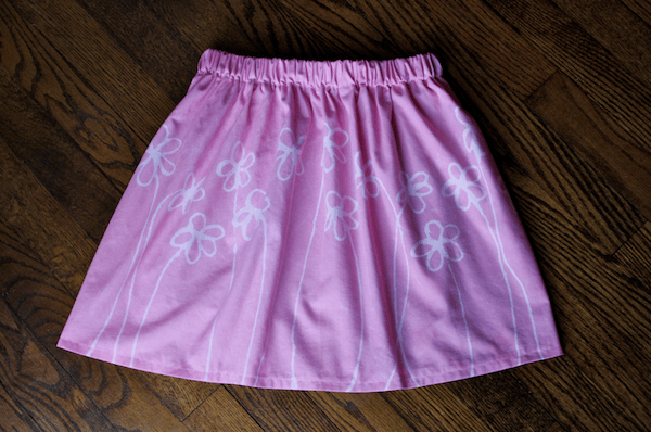 american girl doll skirt fabric glue resist technique
