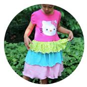 Sew Like My Mom | Twirly Tshirt Dress Tutorial