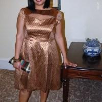 Simplicity 1803: DIY cut out scoop back brocade dress