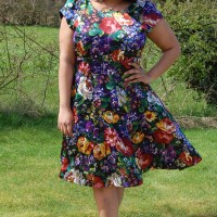 Vogue 8998: DIY Floral Silk Fit and Flare Dress