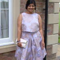 Simplicity 8086 by Cynthia Rowley: DIY Brocade Wedding Guest Outfit
