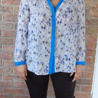 Butterick 6288 and Vogue 1517: DIY Silk Shirt and Pull on Ponte Pants by Anne Klein