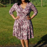 Pauline Alice Aldaia Dress: DIY Fixed Wrap Jersey Dress