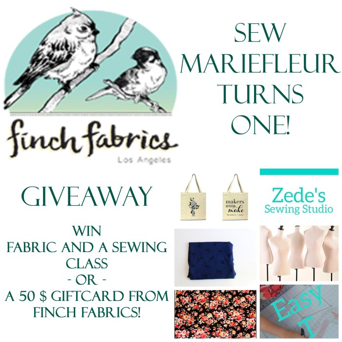 Sew Mariefleur Giveaway