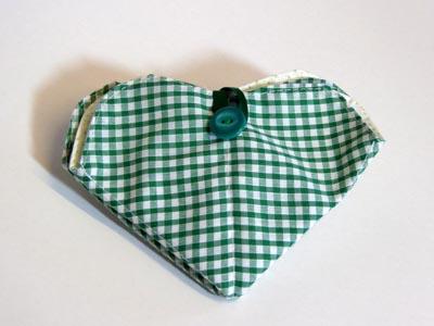 Green check Needle Case
