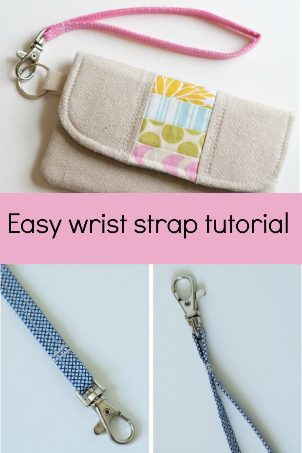 How to make an easy wristlet strap tutorial. I'd always been unsure how to deal with the raw edges but now I understand how this should work! Great bag making tutorial.
