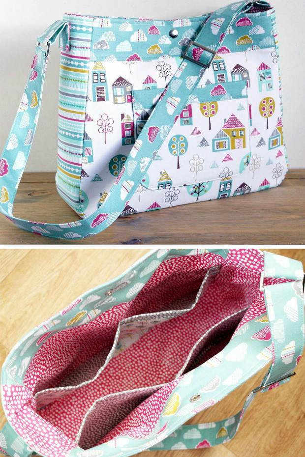Petite Street Diaper Bag by Susie D Designs. Versatile bag that has an adjustable strap, padding, plenty of pockets and a nice style for new moms. All the practicality of a diaper bag with the look of a smart purse.