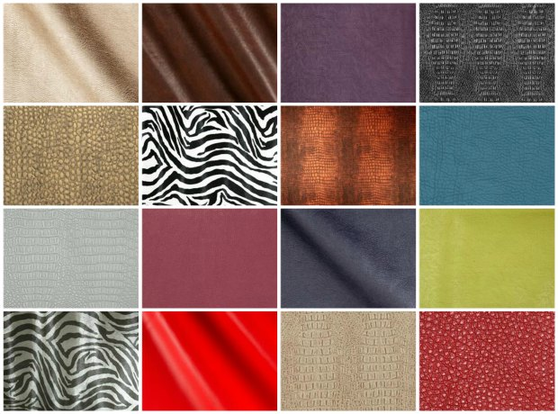 Examples of faux leather from Fabric.com