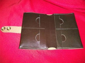 Minimalist Wallet sewing pattern. I made this for my guy in a real leather and he loves it! Also works in Kraft Tex and faux leathers too.