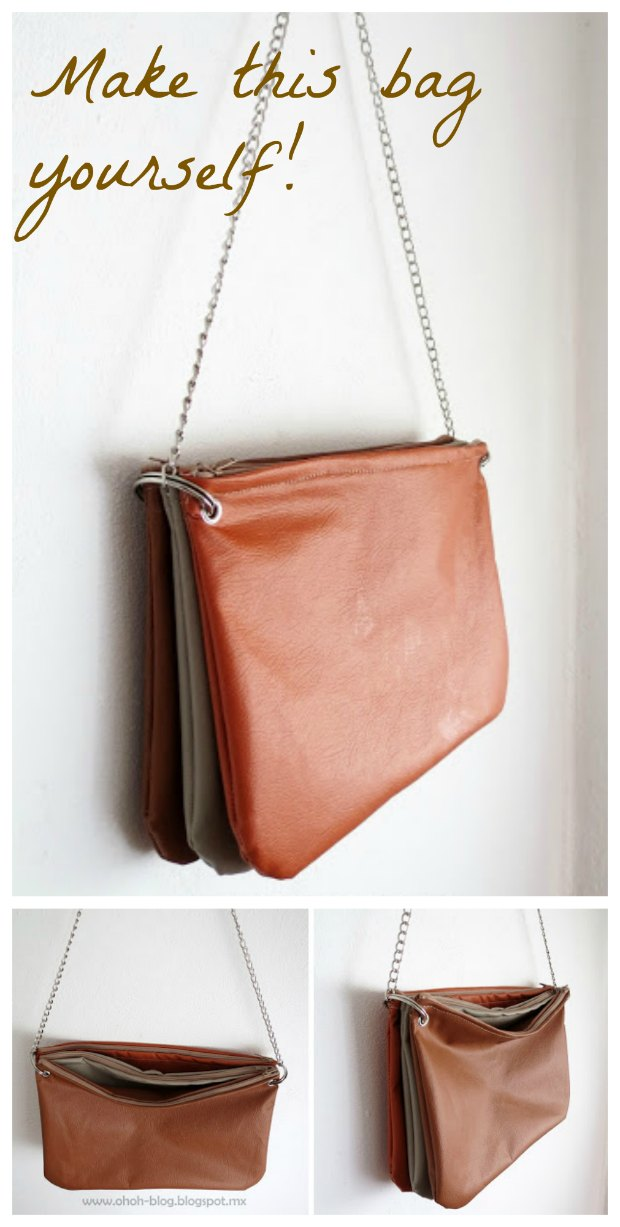 Free sewing pattern for how to make this trio zipped bag. Love to sew with faux leathers, people always admire the bags and want to know where I bought it!