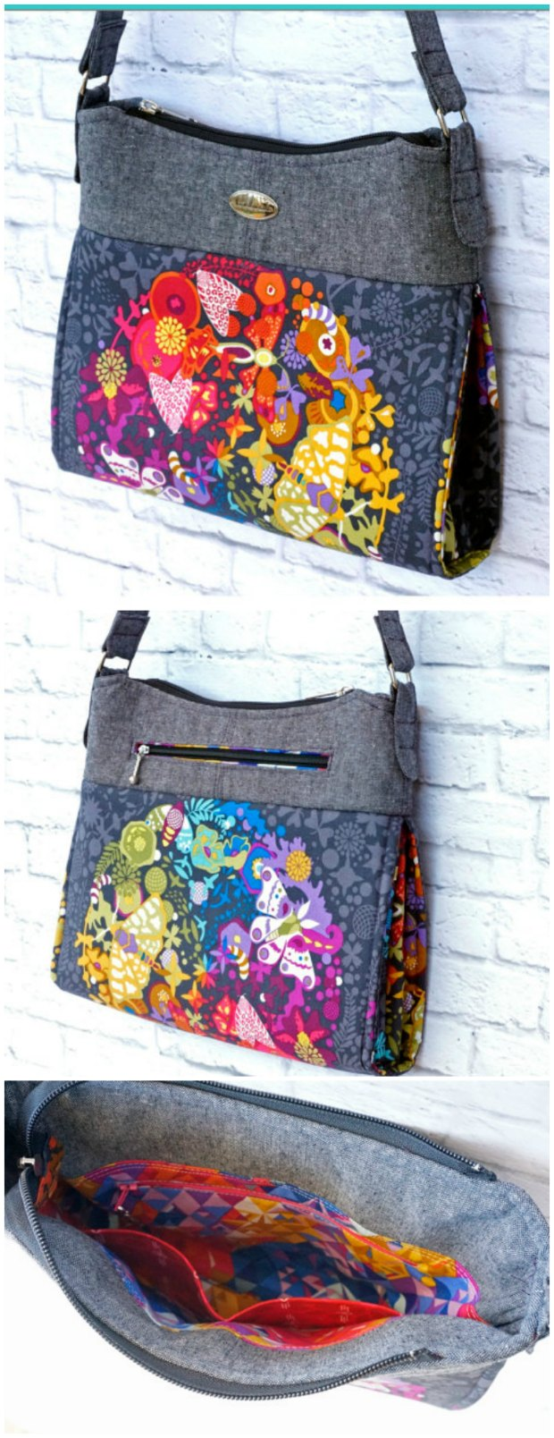 Gabby purse sewing pattern.  I love the examples and slideshow shown here - so very inspiring for ideas.  Works in leather, faux leather and fabrics of all kinds.