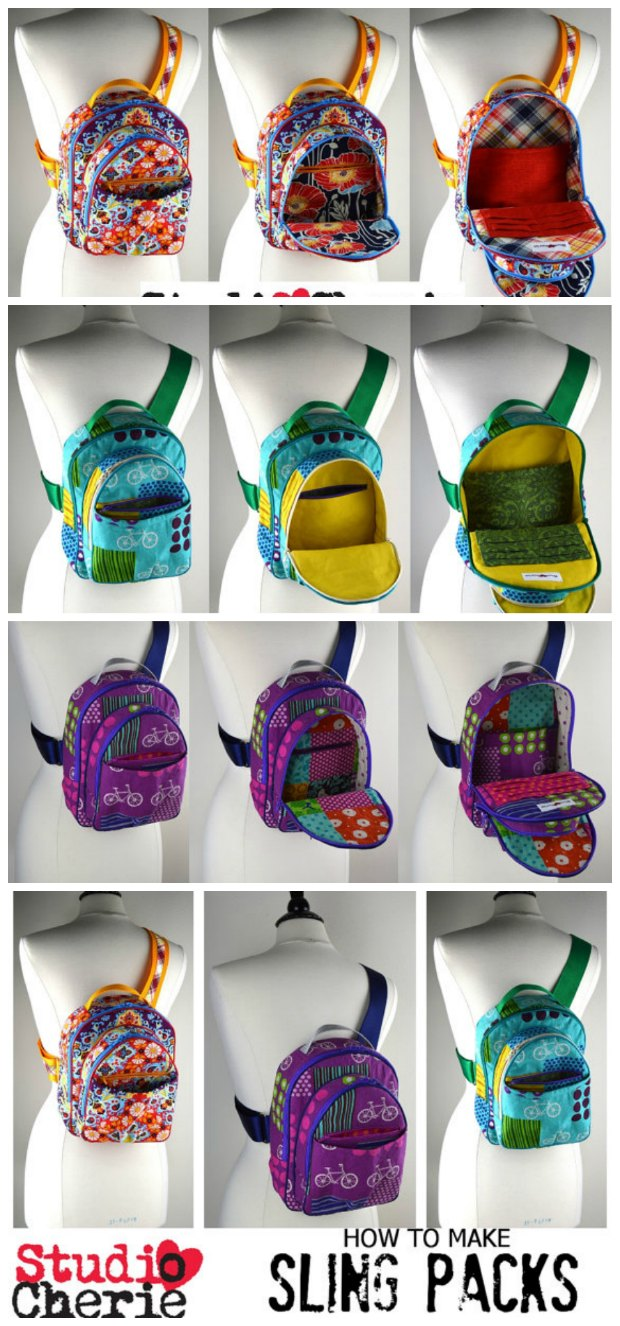 Sewing pattern for this awesome fully featured sling style backpack. I learned so much sewing this bag and the pattern is a bargain!