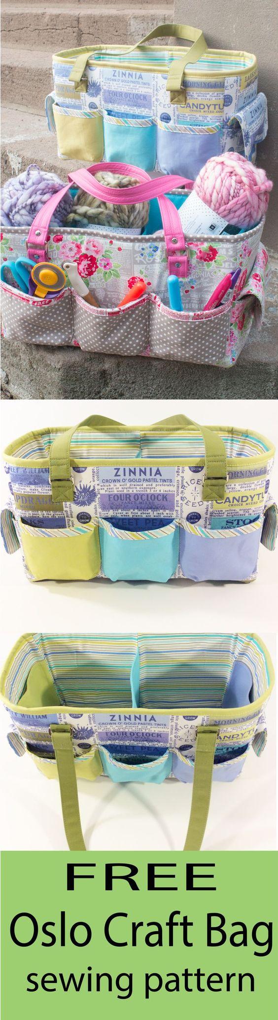Free sewing pattern. Love this crafty storage bag sewing pattern.