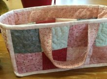 Sew your own craft basket, free sewing pattern