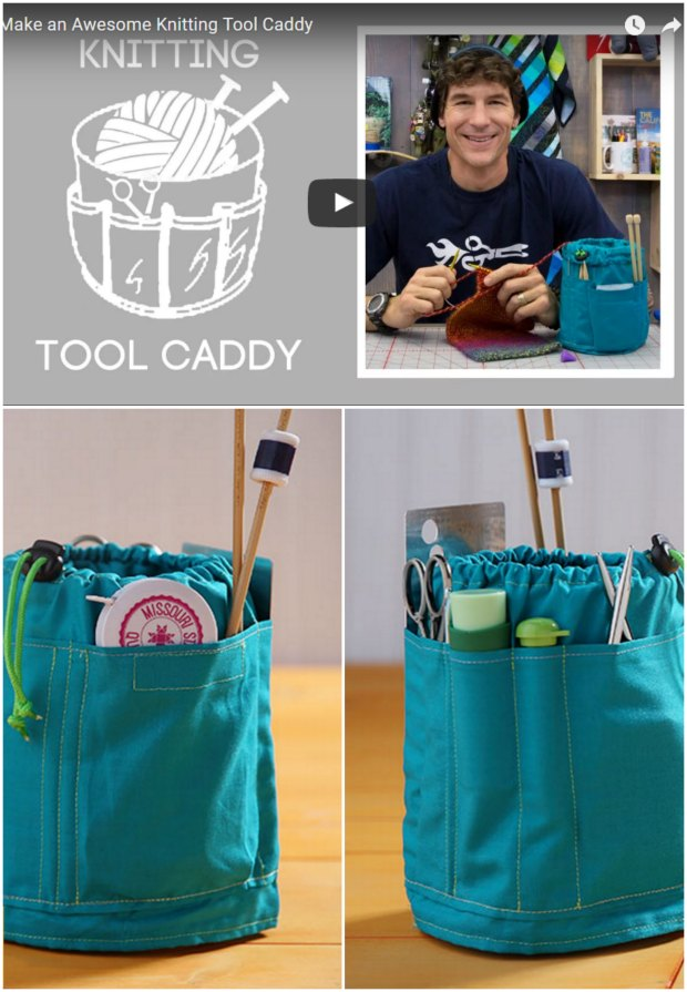 Sew a craft caddy for your tools and projects - video tutorial for ANY size.