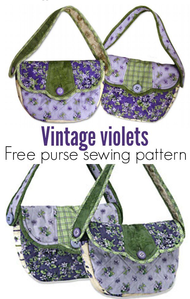 Ideal purse sewing pattern for quilters, with a dresden plate style flap.