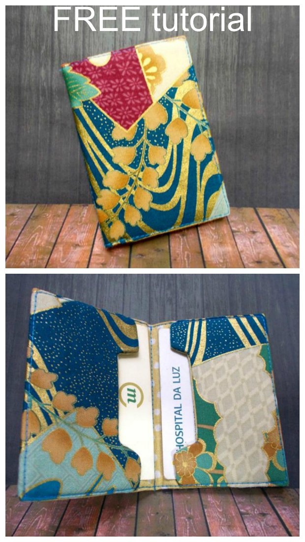 This is a FREE tutorial for beginner sewers to make a lovely simple card holder.