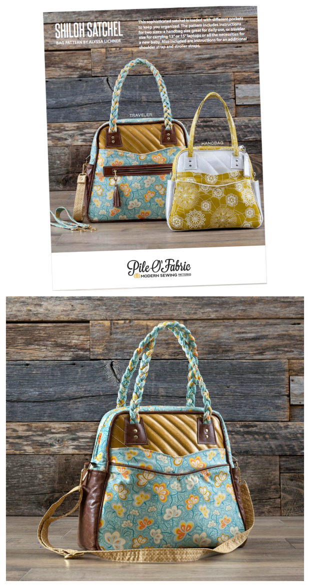 Shiloh Satchel FREE tutorial and video - Sew Modern Bags