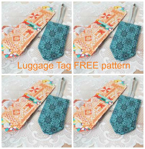fabric luggage tags pattern free sew modern bags