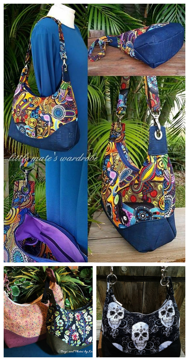 Marichel Hobo Shoulder Bag Sewing Pattern. Marichel offers a timeless slouchy hobo feel with a refined curvy appeal that offers a contoured top and an adjustable shoulder strap that allows it to rest comfortably on your shoulder. Best of all the pattern includes two sizes.