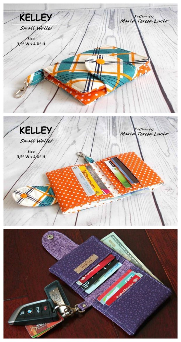 If you have just started out in sewing then The KELLY Small Wallet PDF pattern is the perfect beginner tutorial. There are comprehensive instructions together with lots of photos to help you make a great small wallet. The wallet is unisex so can be used by women or men, and if you like them enough you can give them as gifts or even make some to sell.