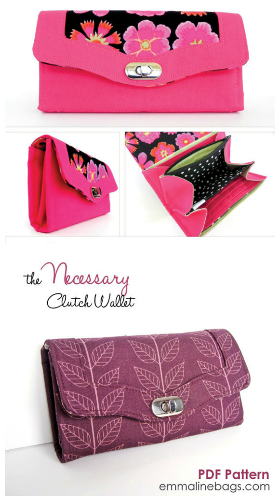 The Necessary Clutch Wallet - Sew Modern Bags