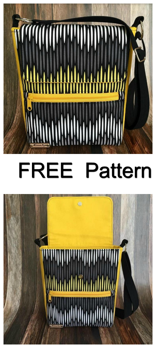 If you want a fun and easy sew, and all for FREE, then download this FREE pdf pattern below for the Taylor Unisex Bag. The Taylor Unisex Bag is a simple messenger style cross body bag that can be used by girls, boys, men and women. It is a great bag that includes one exterior zipped pocket, one exterior slip pocket with a magnetic snap, an adjustable strap and the flap also has a magnetic snap.